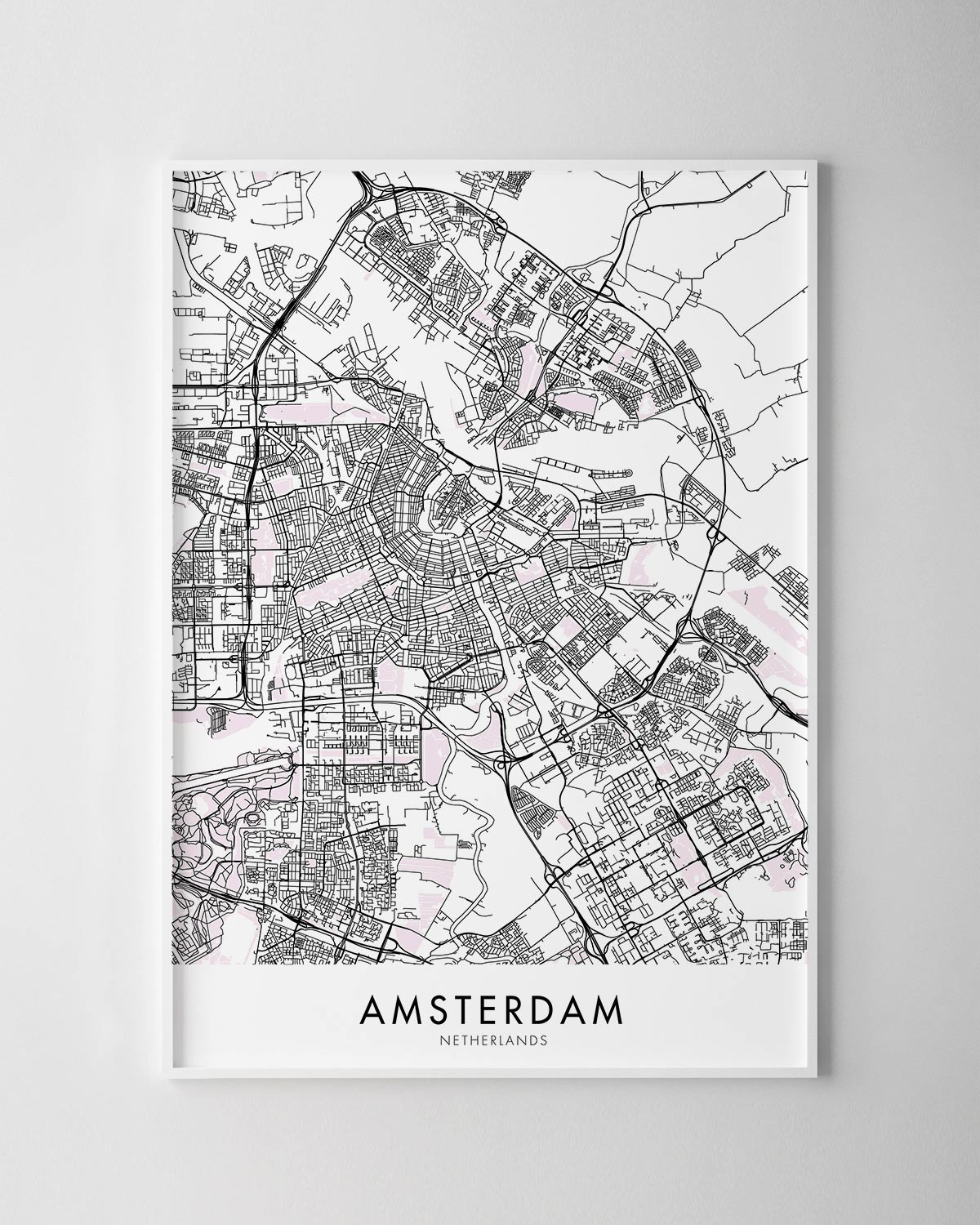 photograph regarding Printable Map of Amsterdam referred to as Amsterdam Map Print