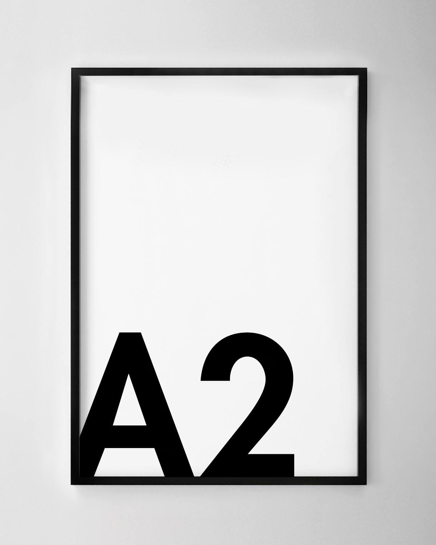 A2 Black Poster Frame
